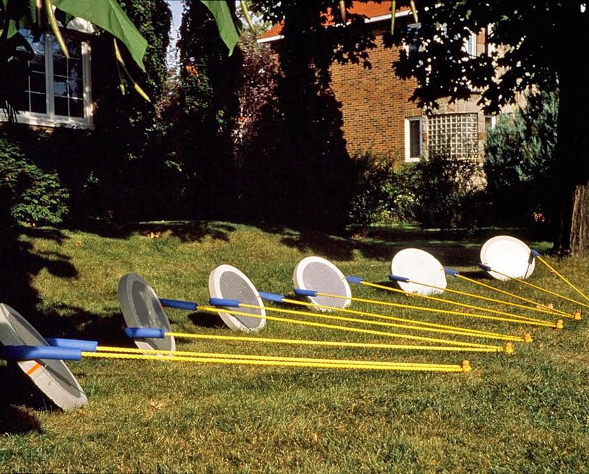 Marquage deux - (6 éléments) installation - 1998