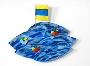 VIE, 2011, bois tissu acrylique, 95 x 115 x 8 cm : Collection Loto-Québec
