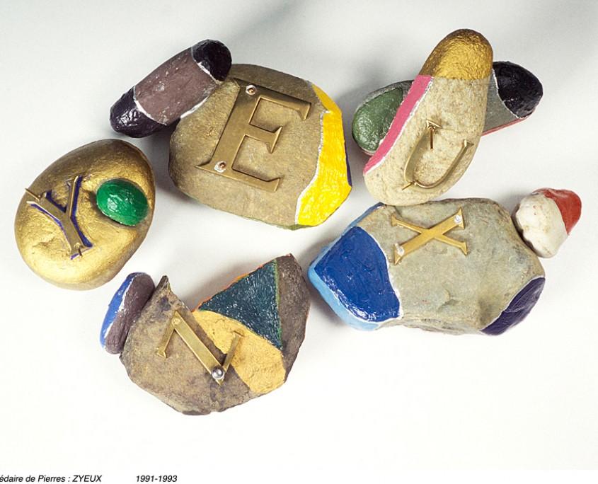 Abecedaire de pierres : ZYEUX, 1991-1993