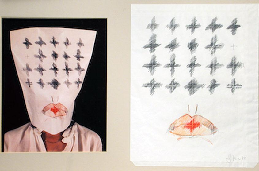 Masque-dessin no 2 - 1975