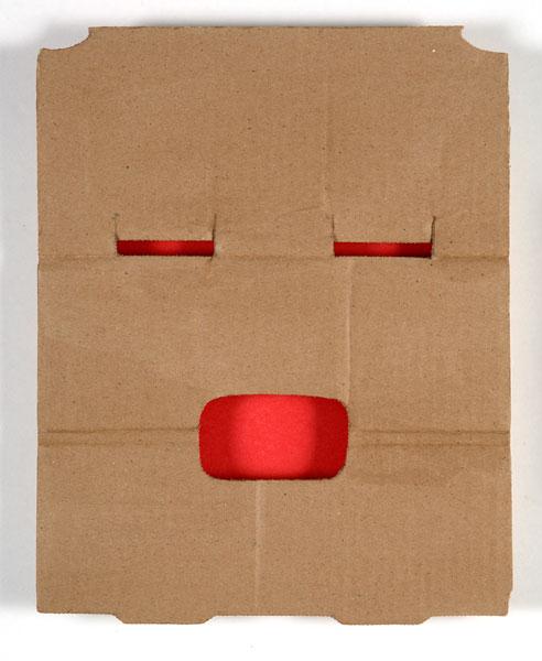 O, bois, carton, papier, 40 x 30 X 5 cm, 1997