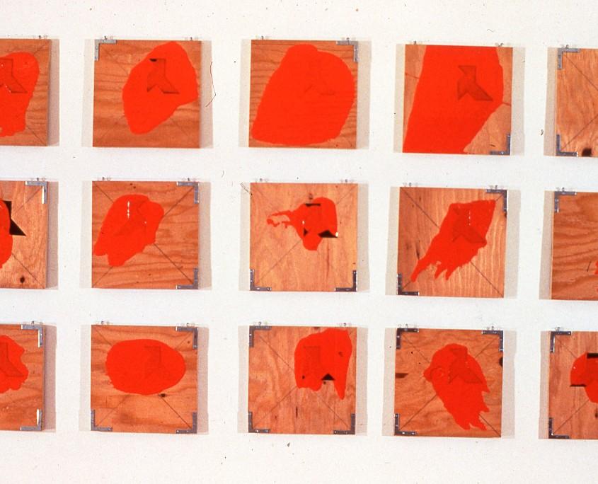 Silhouettes et noires et taches oranges - (15 éléments ) - 1978